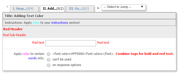Using HTML tags to enhance your eCRF